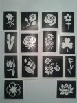 Flower themed stencils  for glitter tattoos / airbrush / henna / cakes / many other uses   daisy  tulip  daffodil  bluebell